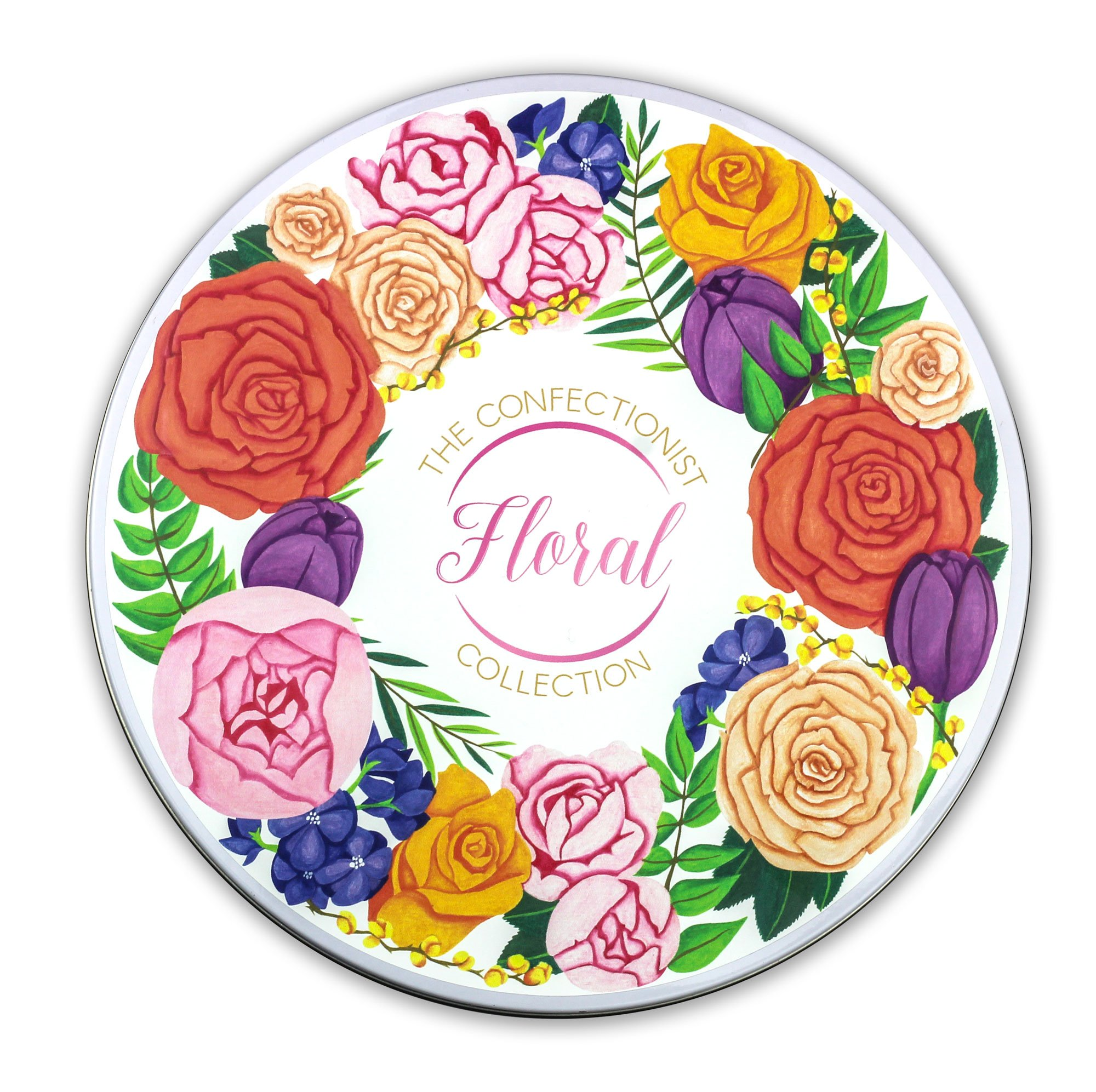 floral collection tin