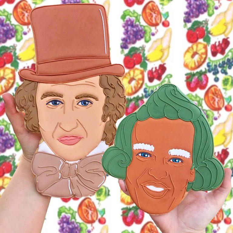 Willi Wonka Face Biscuit insta photo