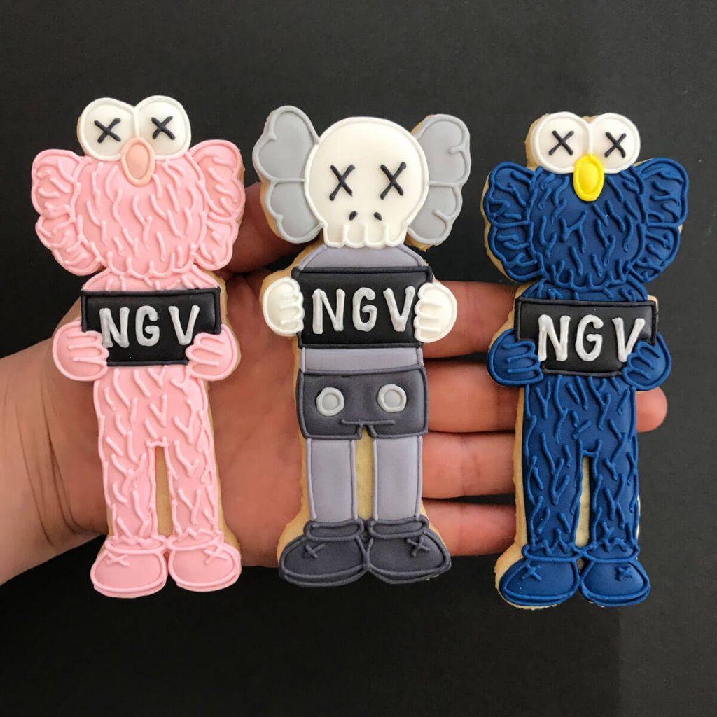 KAWS NGV cookies