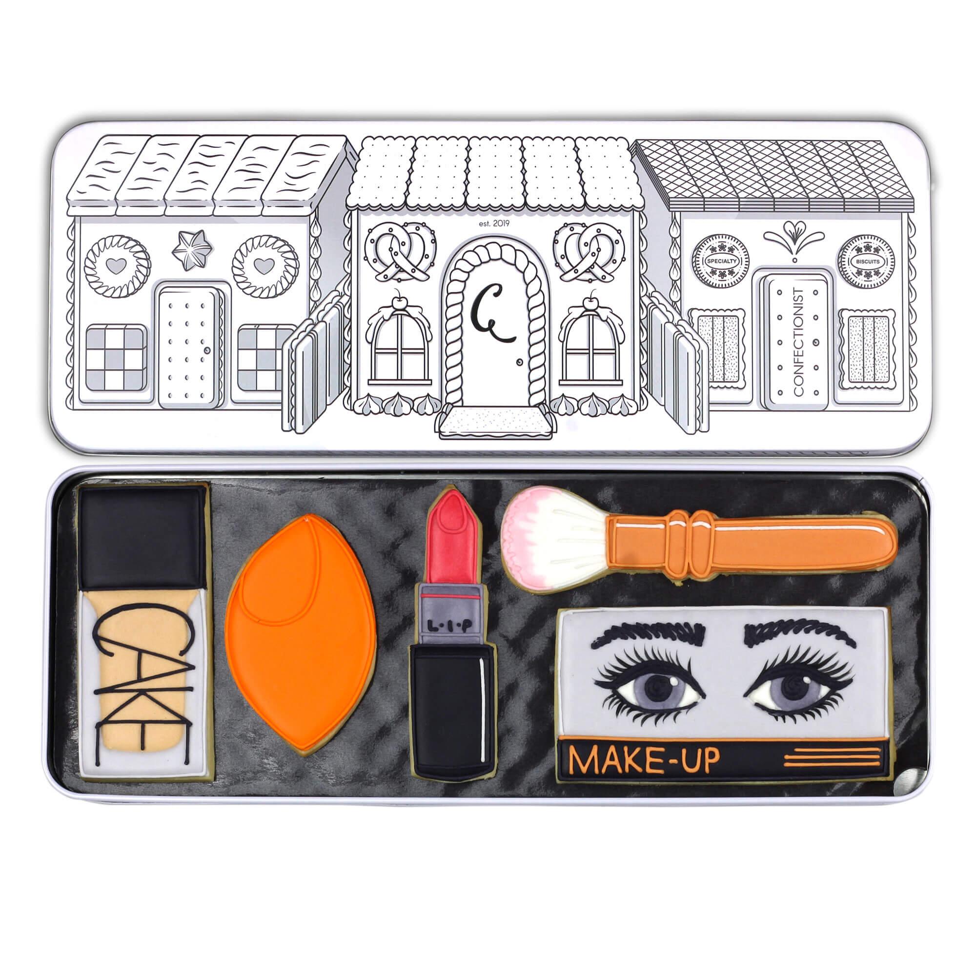make up set in tin