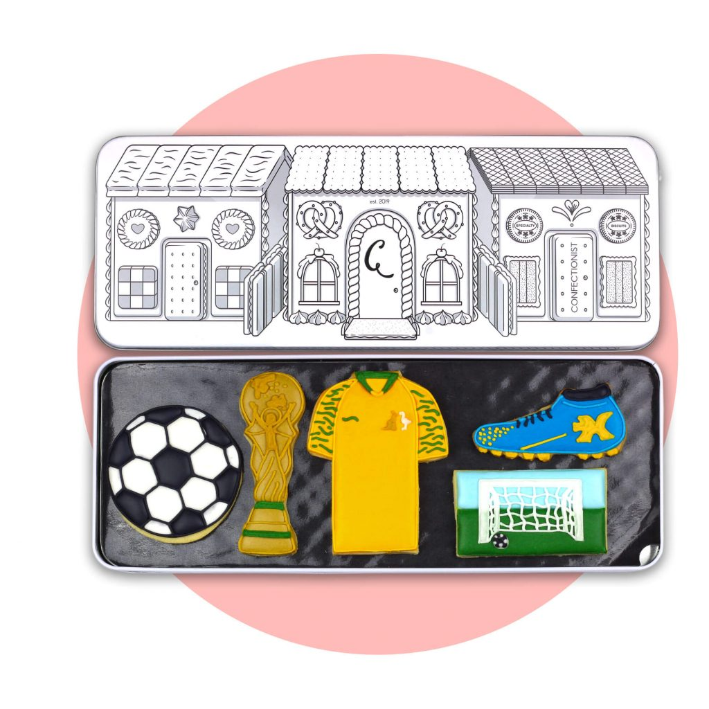 Soccer Set with pink background