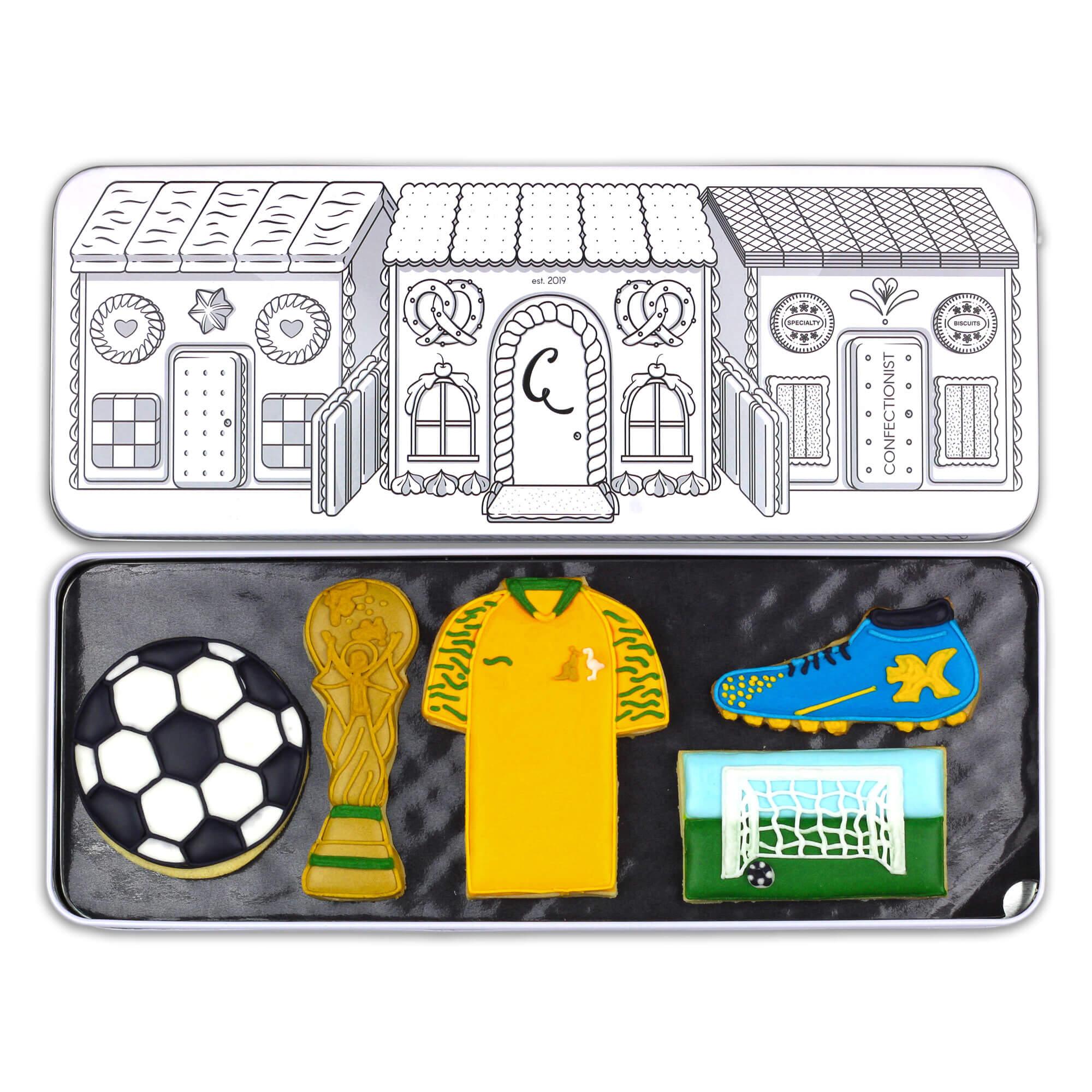 soccer set in tin