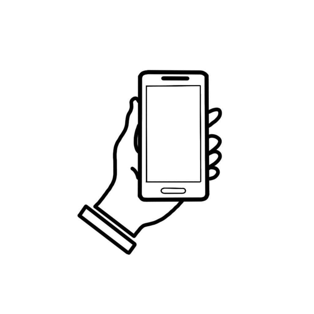 holding iphone icon