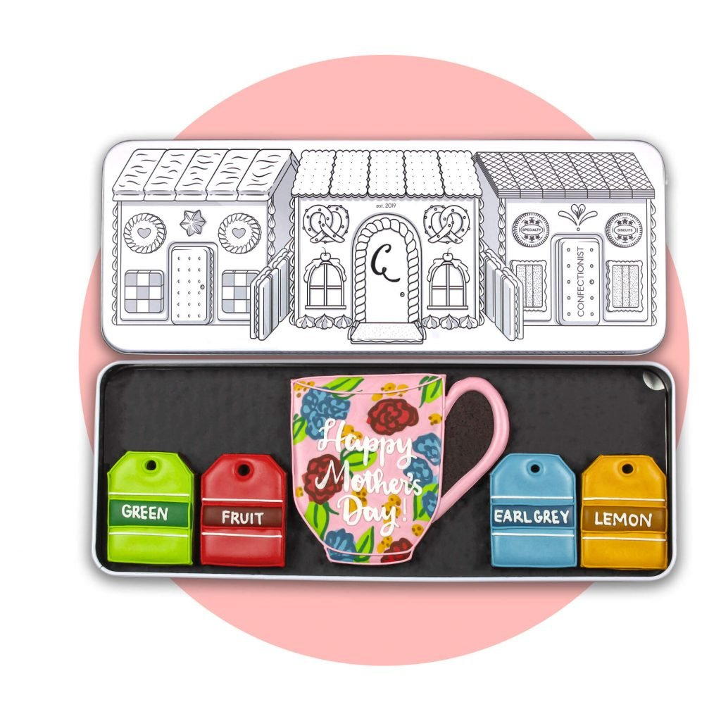 Personalise Biscuit Tea Set with pink background
