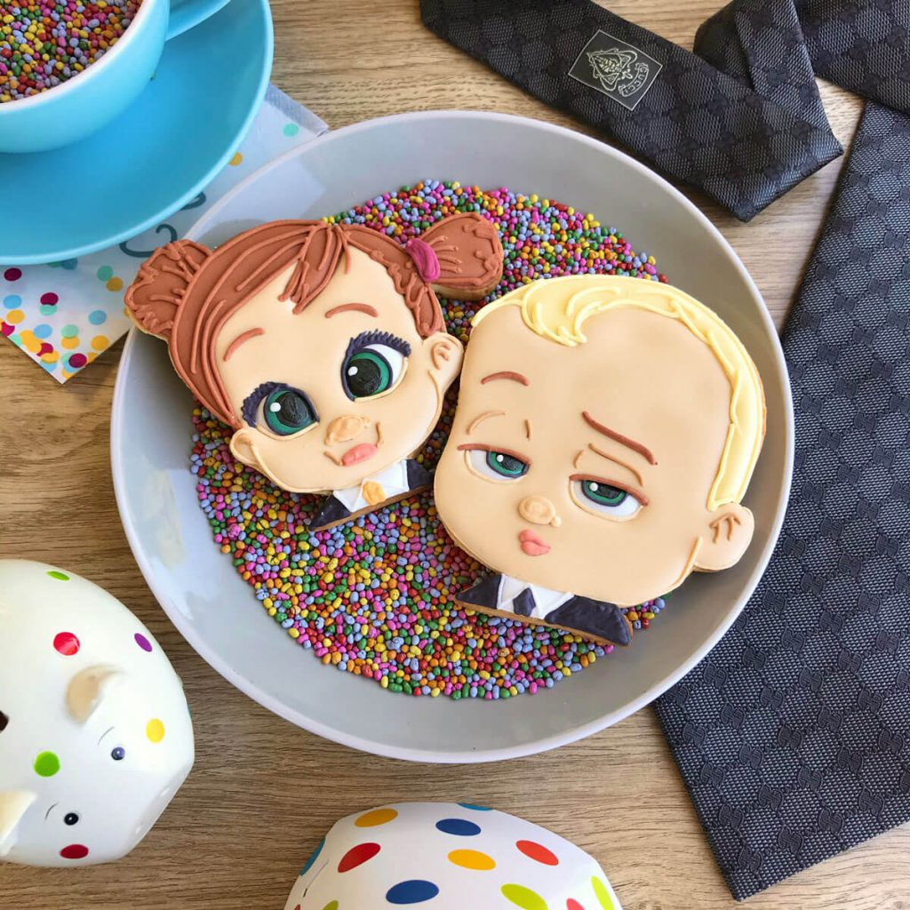 Boss Baby movie launch biscuits