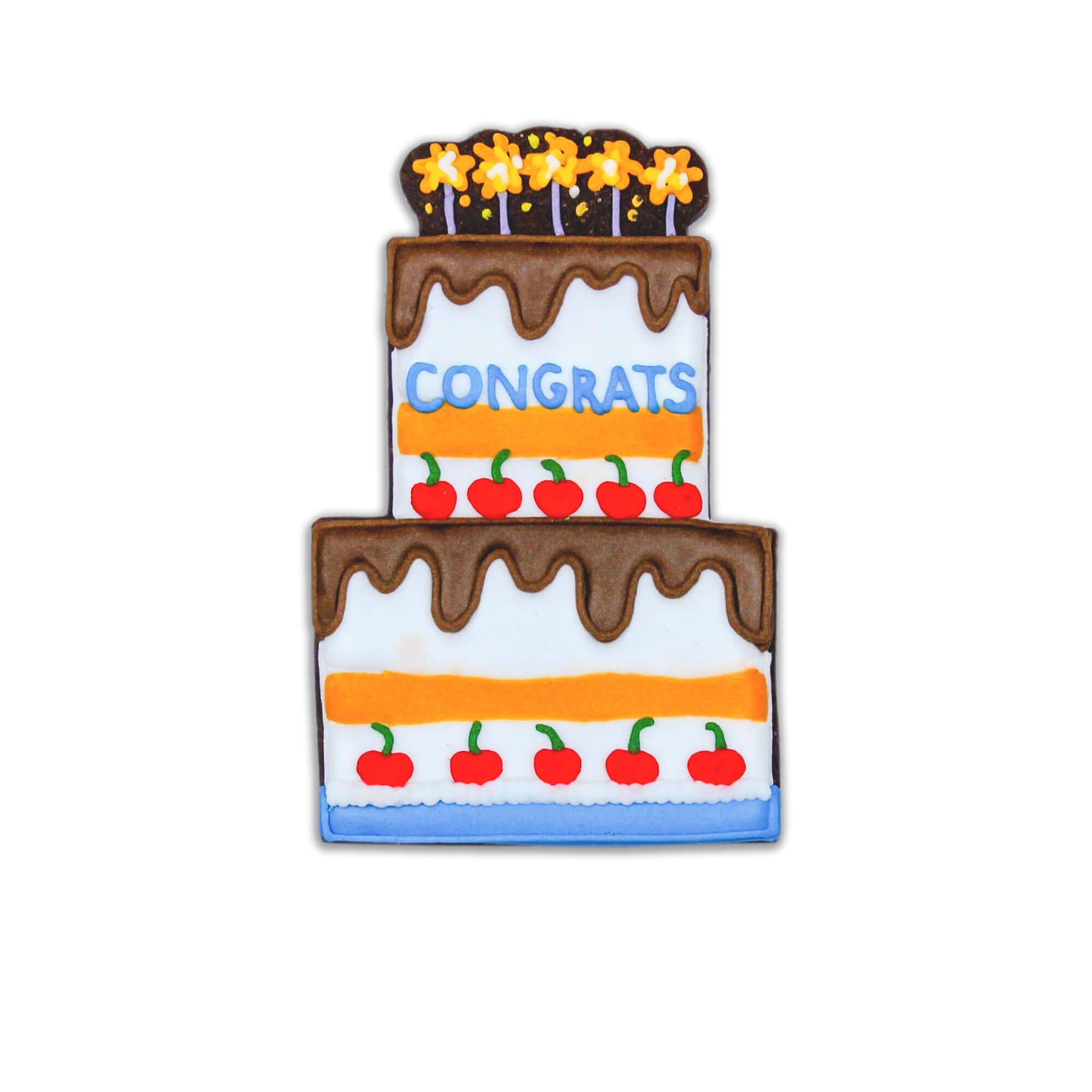 congrats cake biscuit individual