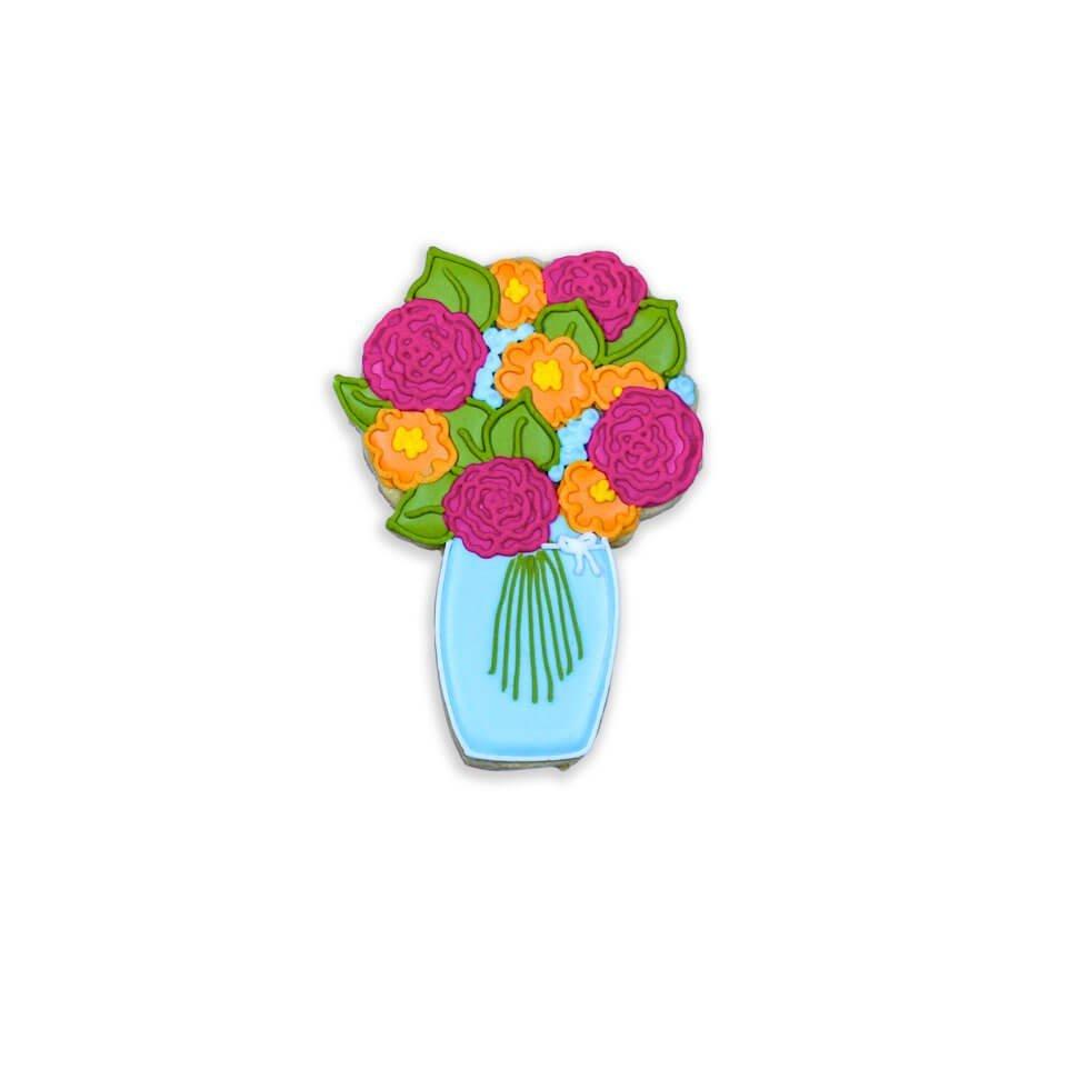 Flower Bouquet biscuit individual