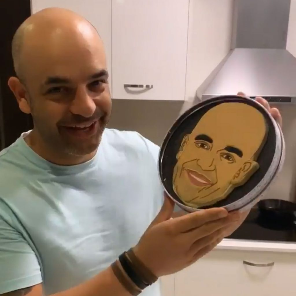 Custom Face Biscuit for Adriano Zumbo